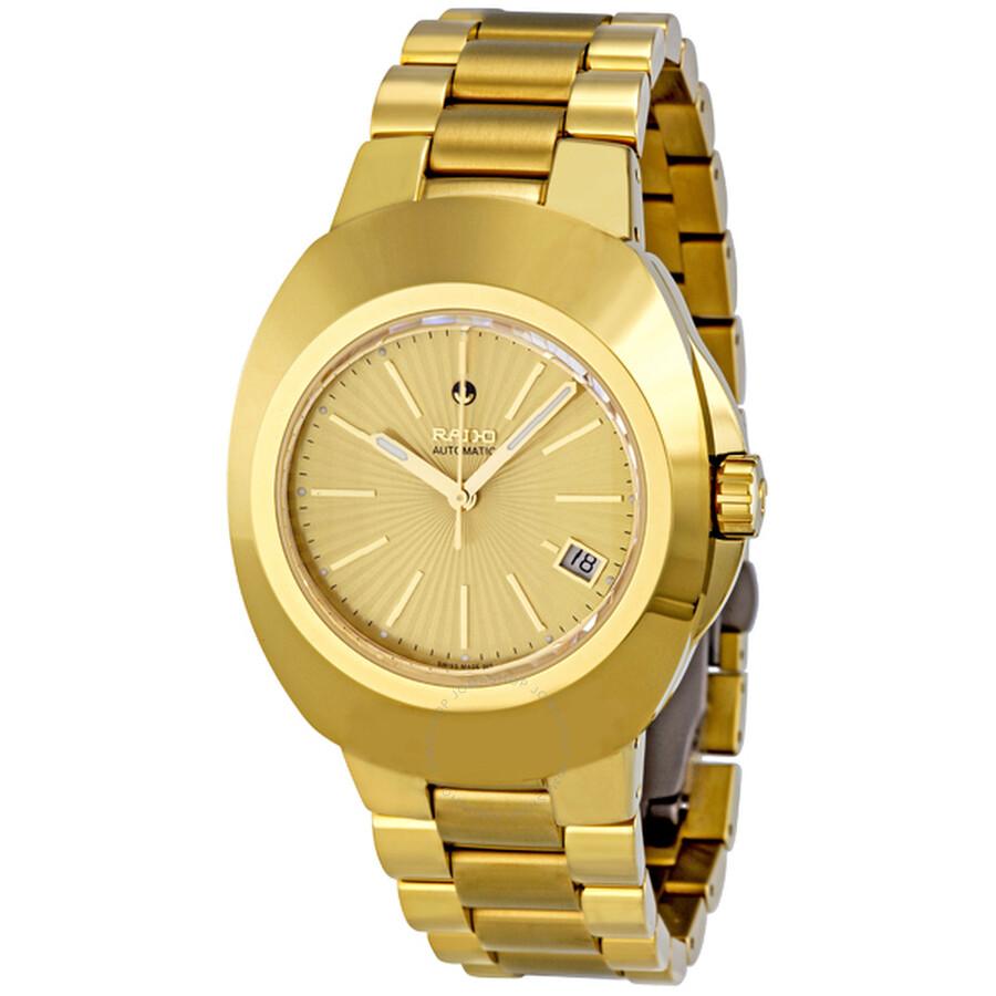 rado original automatic gold tone r12950253 gold