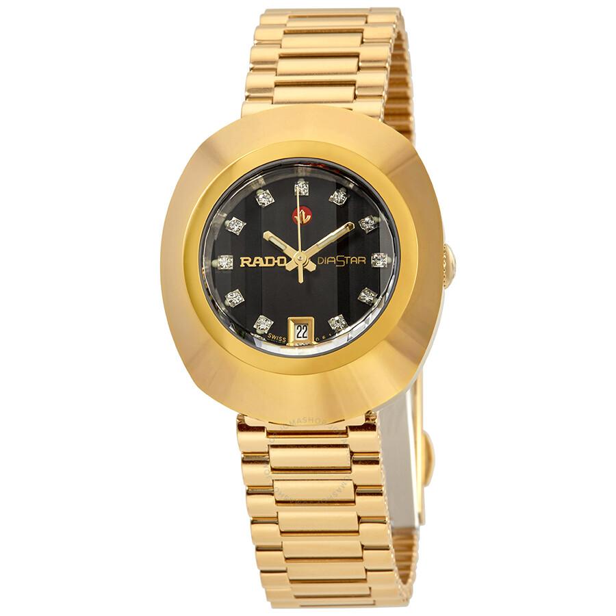 5107be338 Rado Original Automatic Black Dial Ladies Watch R12416613 - Original ...