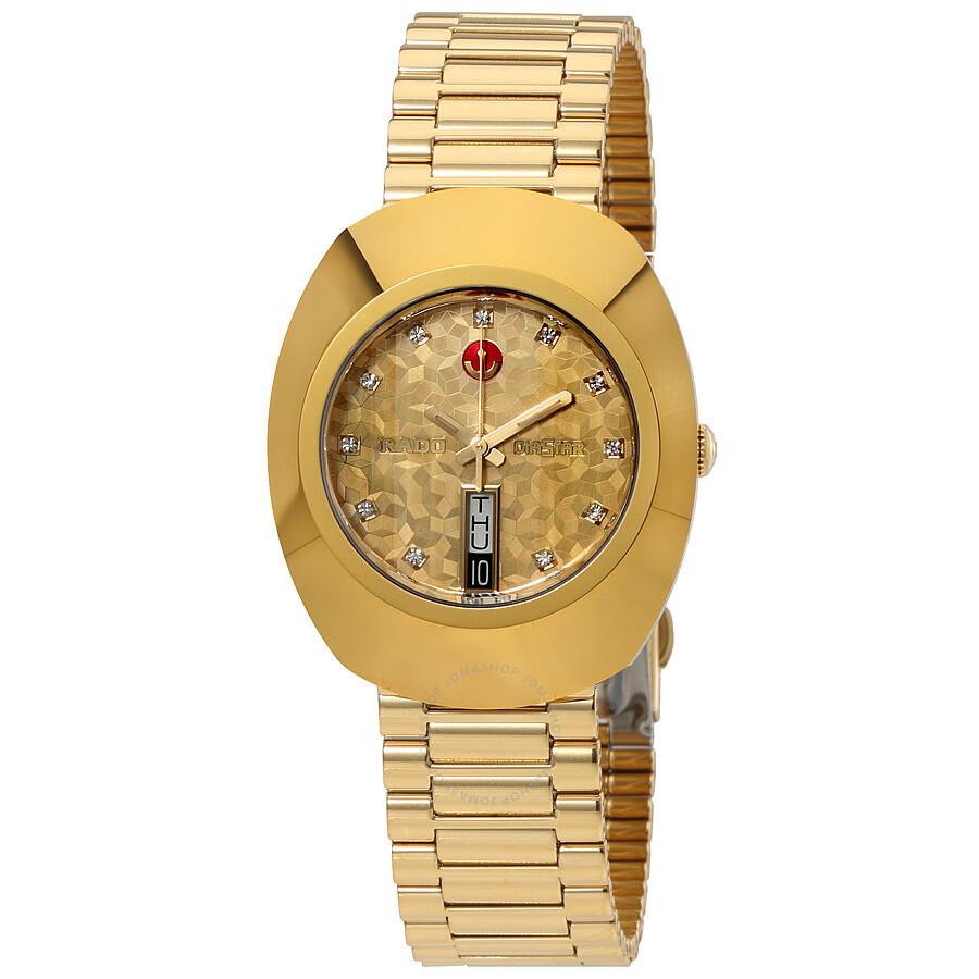 Rado Original L Automatic Yellow Gold Dial Men S Watch R12413643