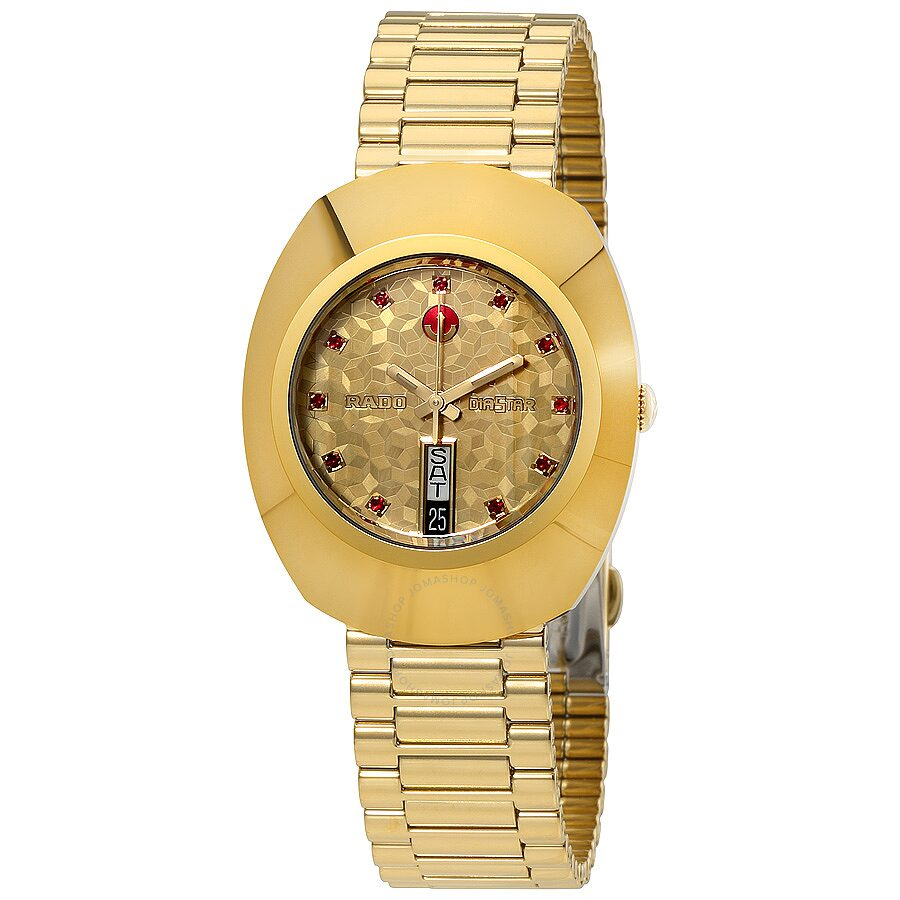 Rado Original Automatic Yellow Gold Dial Men S Watch R12413653