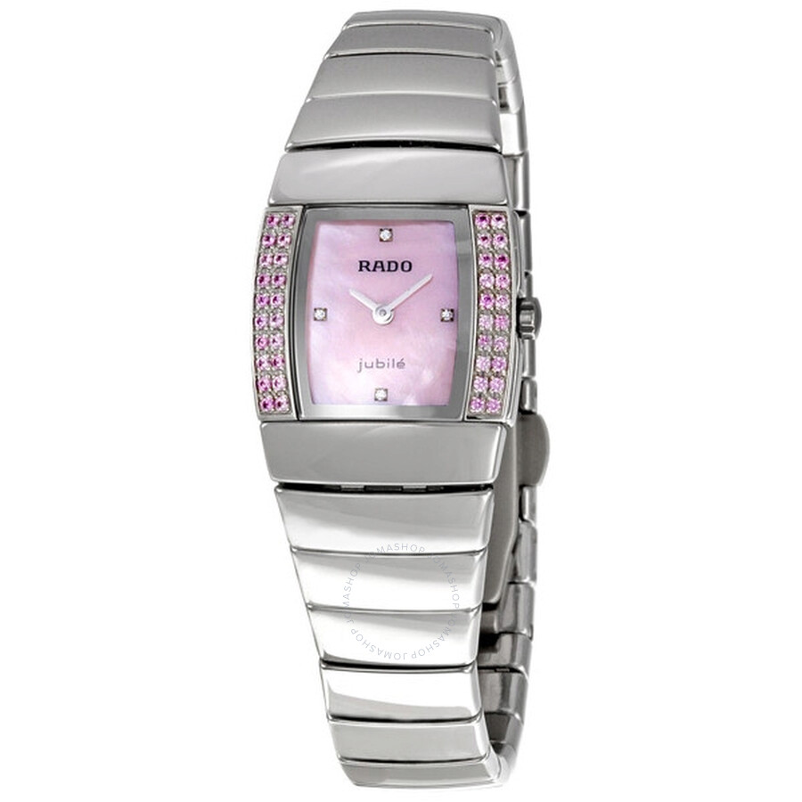 323209f6704 Rado Sintra Superjubile Pink Diamond Platinum-tone Ceramic Mini Ladies  Watch R13582922 ...