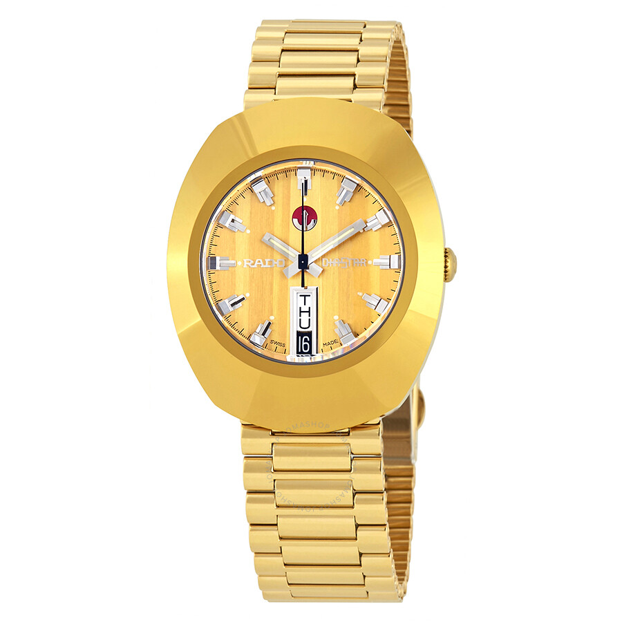 Rado The Original Automatic Gold Dial Watch R12413633 Original Rado Watches Jomashop