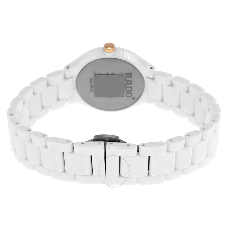 056d8d32379 Rado Thinline Jubile White Ceramic Ladies Watch R27958702 - True ...