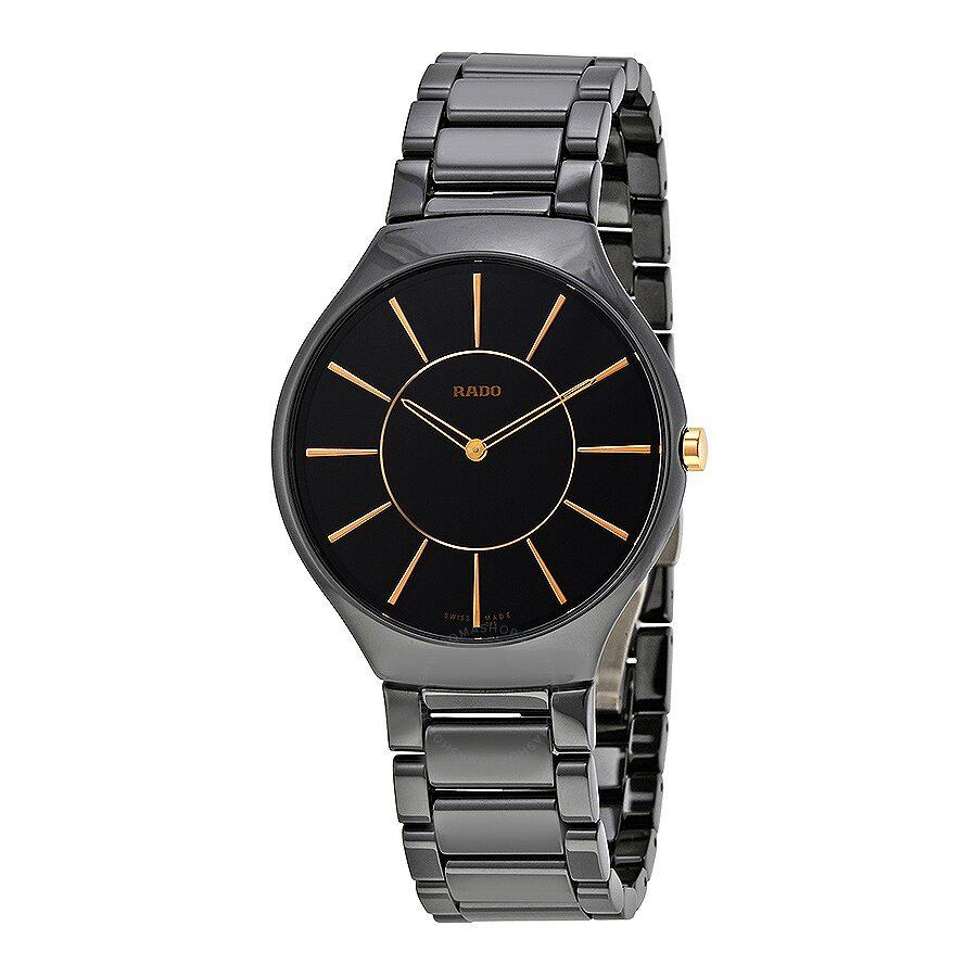 Rado true black ceramic men 39 s watch r27741152 true rado watches jomashop for Ceramic man watch
