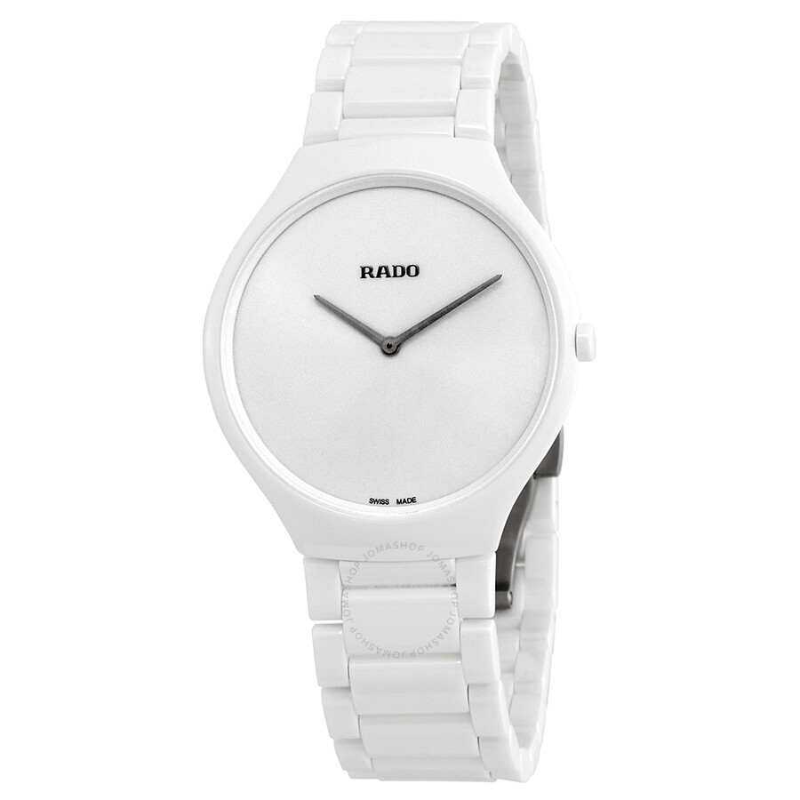 2ce1a332957 Rado True Thinline White Dial White Ceramic Ladies Watch R27957012 ...