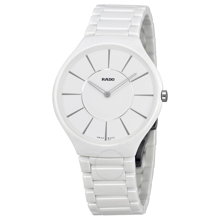 05ef7863f07 Rado True Thinline White Dial White Ceramic Ladies Watch R27957112 ...