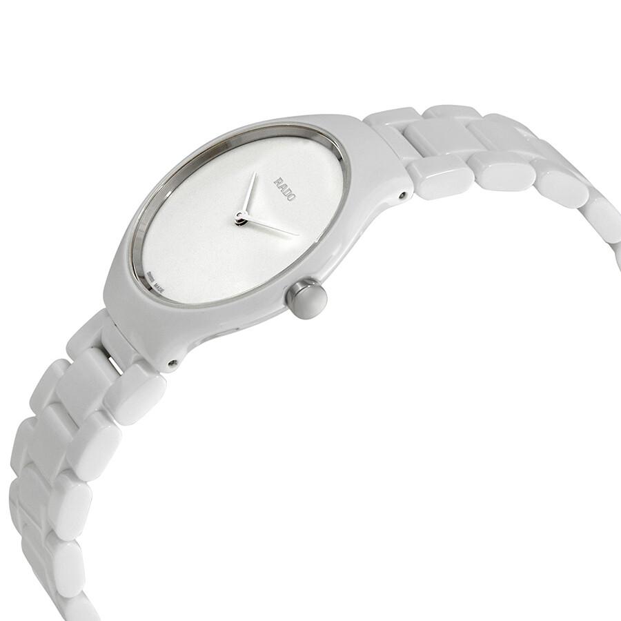 True Thinline White Dial White Ceramic Ladies Watch R27958022