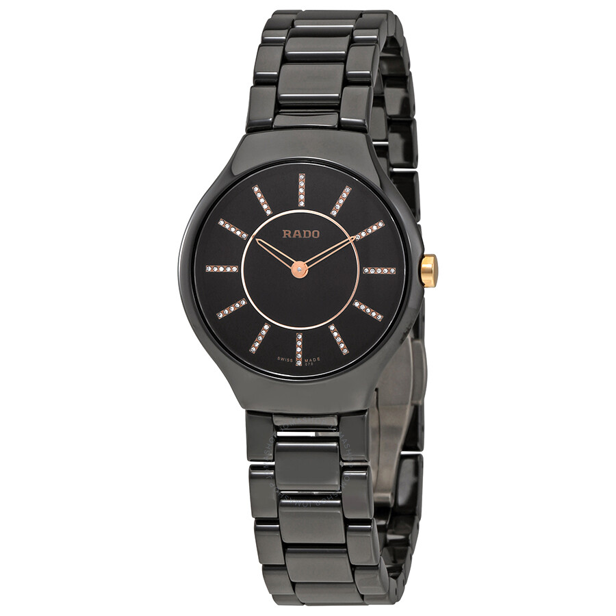 Active Ladies Watch By Elizabeth Rose Gold Tone Oriental Floral Style Dial Grey Strap Wristwatches