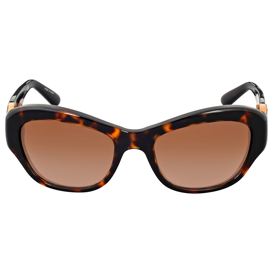 35492e0f015 Ralph Lauren Cat Eye Dark Havana Brown Gradient Sunglasses Item No.  RL8117Q500313-54
