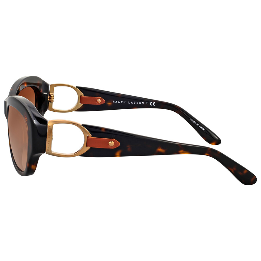6b120f01bb7 Ralph Lauren Cat Eye Dark Havana Brown Gradient Sunglasses - Ralph ...