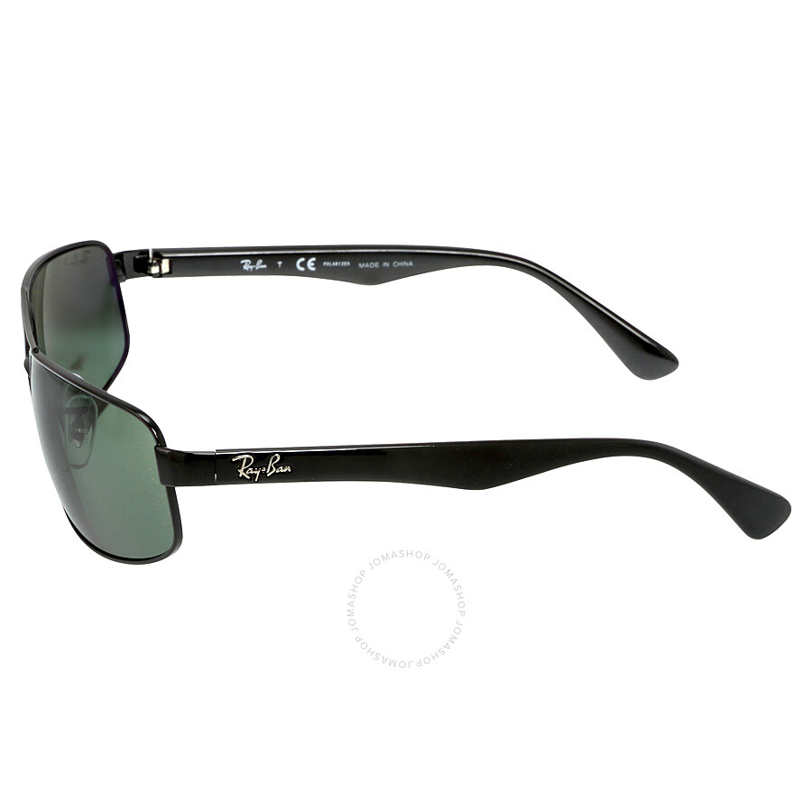 eaa715b0b49 Ray-Ban 61 mm Sunglasses - Black   Polarized Green Classic G-15 ...