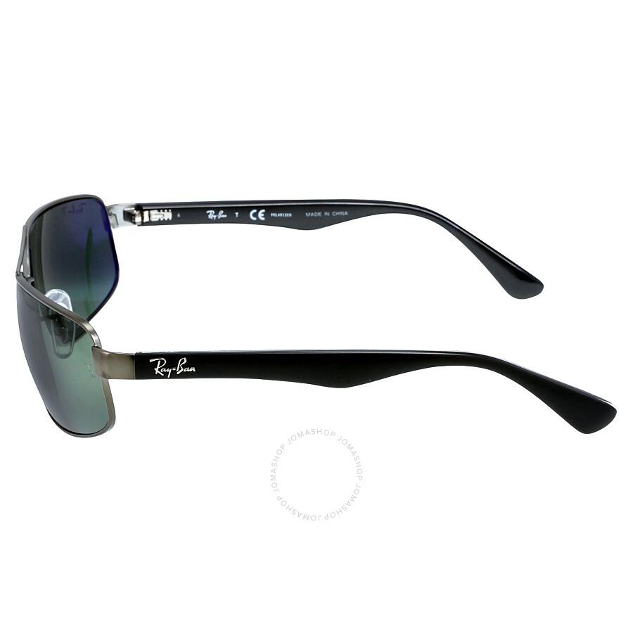 c96282c2dac ... Ray-Ban 61 mm Sunglasses - Black Metal   Polarized Green Classic G-15