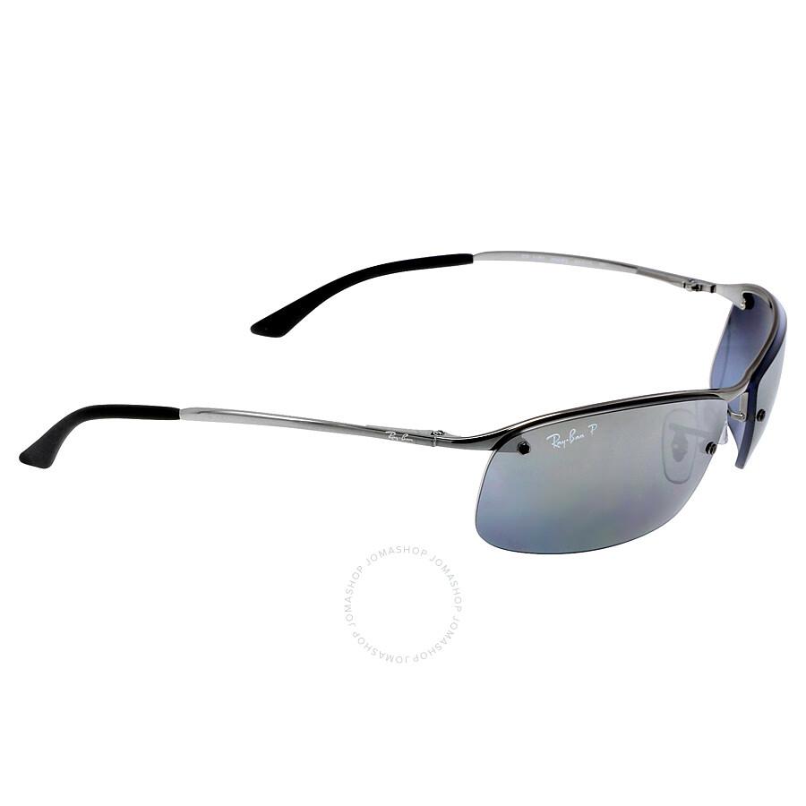 13d47889a7abb8 Ray-Ban 63 mm Sunglasses - Gunmetal Polarized Silver Mirror - Active ...