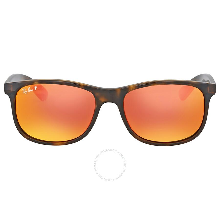 b9fcbd9d4a Ray Ban Andy Polarized Orange Flash Sunglasses Item No. RB4202 710 6S 55