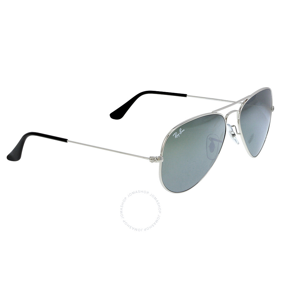 Ray ban aviator 55mm classic sunglasses silver mirror for Ray ban aviator miroir homme