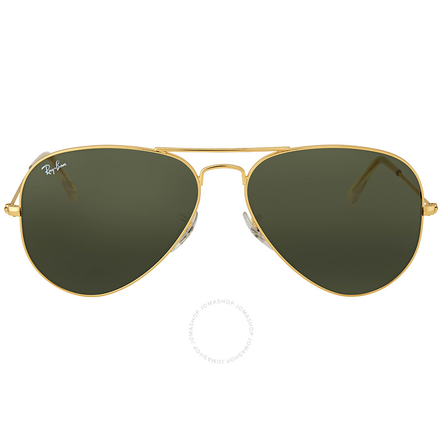 f2d4780100 Ray Ban Aviator 58mm Classic Green Sunglasses