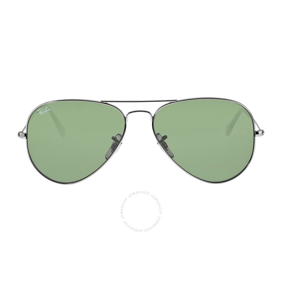 ray ban aviator g 15  Ray-Ban Aviator 58mm Classic Sunglasses - Gunmetal With Green G-15 ...