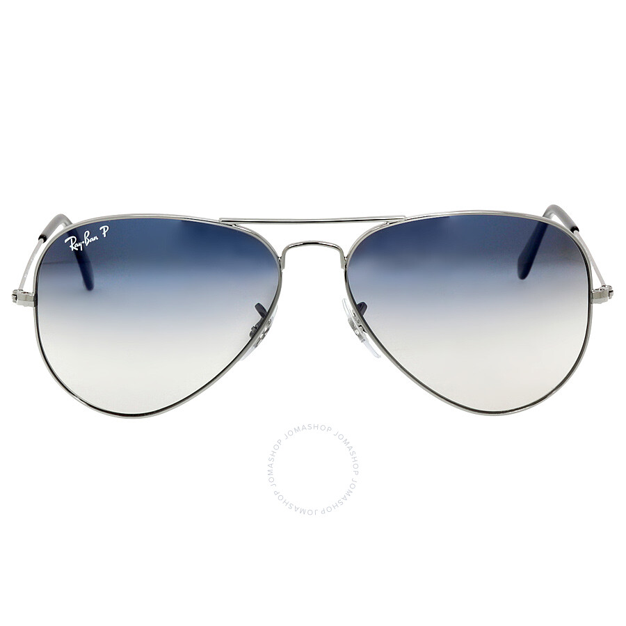 52e3bb3b31a Ray Ban Aviator 58mm Sunglasses - Polarized Blue Grey Gradient RB3025  004 78 58- ...