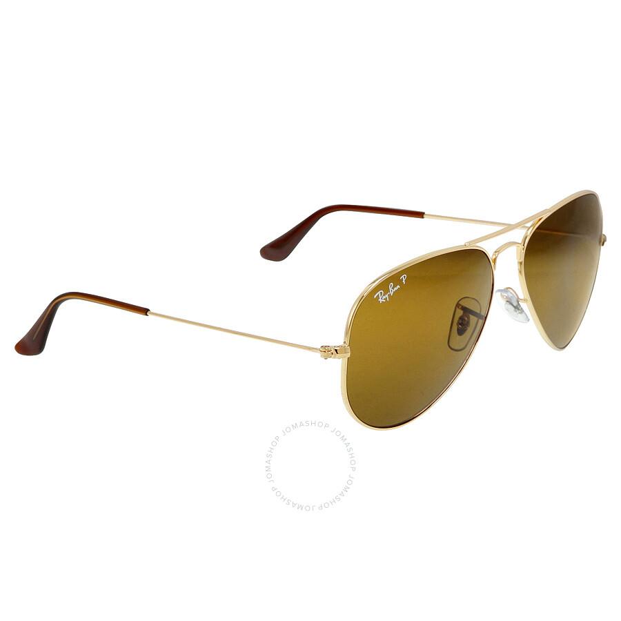 ray ban aviator 58mm sunglasses polarized brown b 15. Black Bedroom Furniture Sets. Home Design Ideas