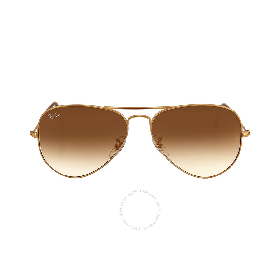 12b4b5406f636 Ray Ban Aviator 58mm Light Brown Gradient Sunglasses RB3025 001 51 58-14 ...
