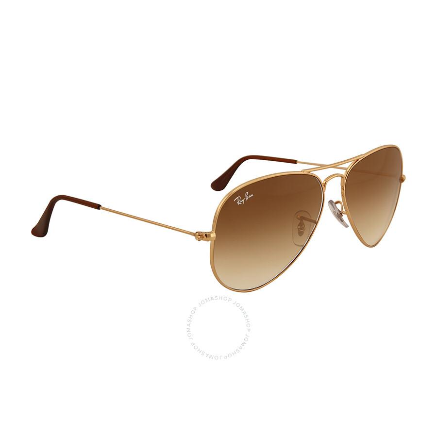 juste prix large choix de couleurs et de dessins gamme complète de spécifications Ray Ban Aviator 58mm Light Brown Gradient Sunglasses RB3025 001/51 58-14
