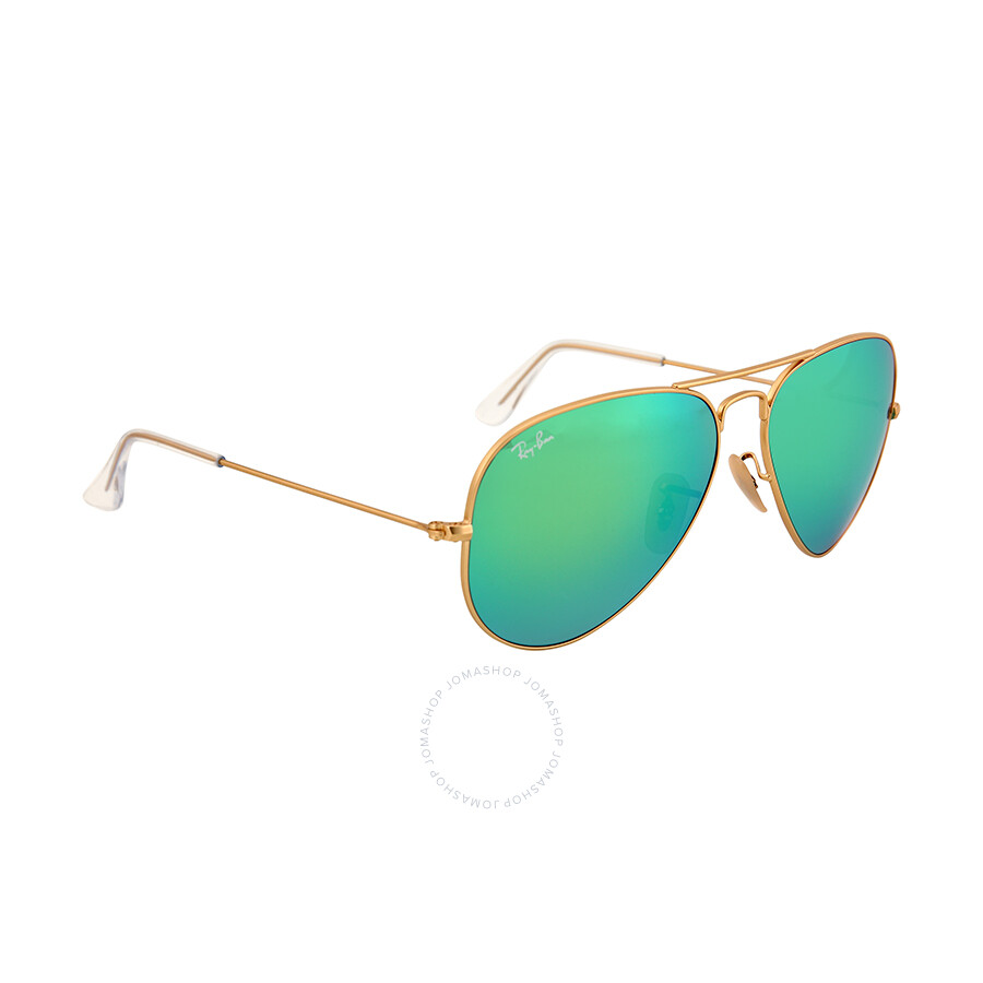 aviator arista  Ray Ban Aviator Arista Green with Mirrored Lenses 58 mm Sunglasses ...