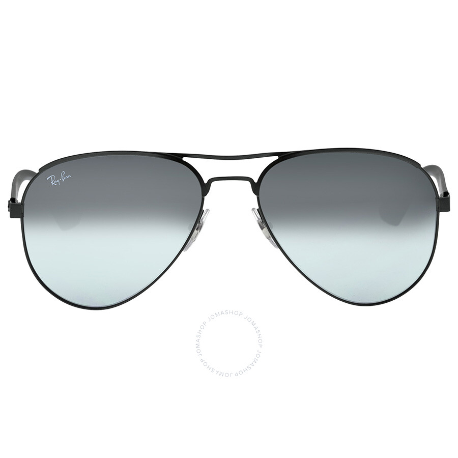 Ray ban aviator black metal frame gray mirror lenses for Ray ban aviator miroir