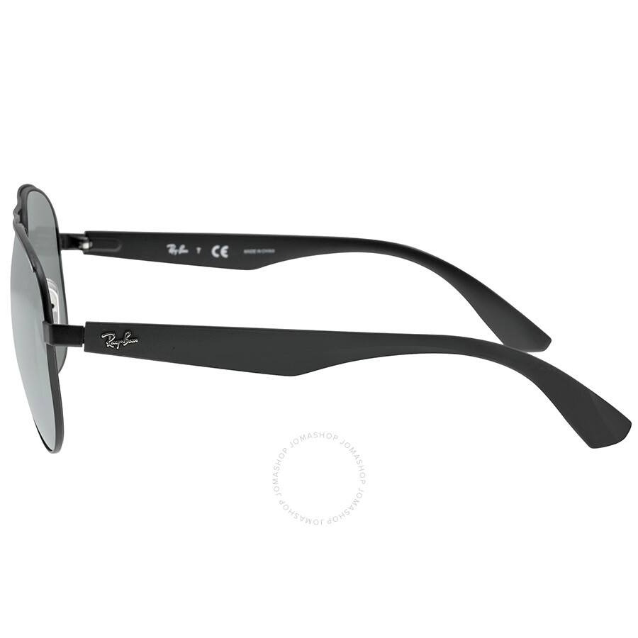 95500c1ccf ... Ray Ban Aviator Black Metal Frame Gray Mirror Lenses Sunglasses RB3523 -59-006- ...
