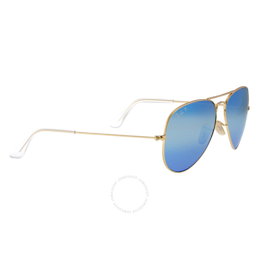 9c9666f33c ... Ray-Ban Aviator Blue Flash Polarized Lens Sunglasses RB3025 112 4L  58-14 ...