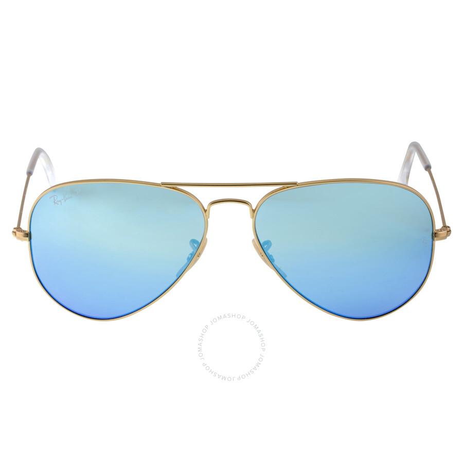 Ray-Ban Aviator Blue Flash Polarized Lens Sunglasses RB3025 112/4L