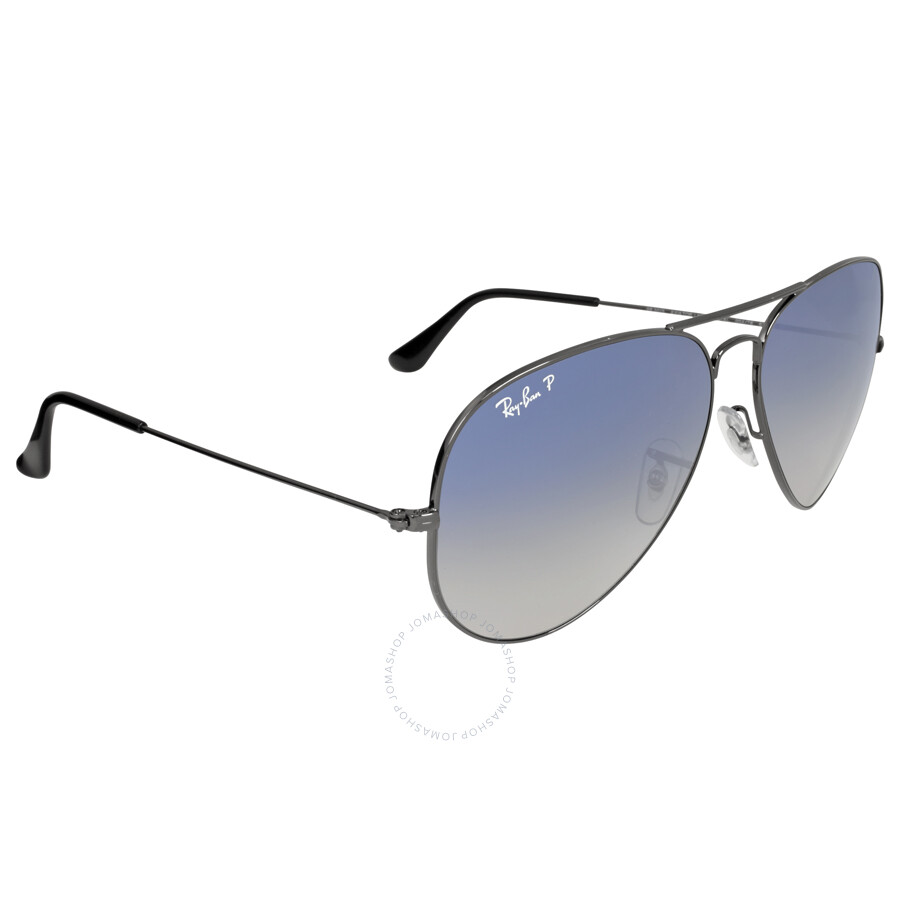 Blue gradient aviator ray bans for Ray ban aviator miroir homme