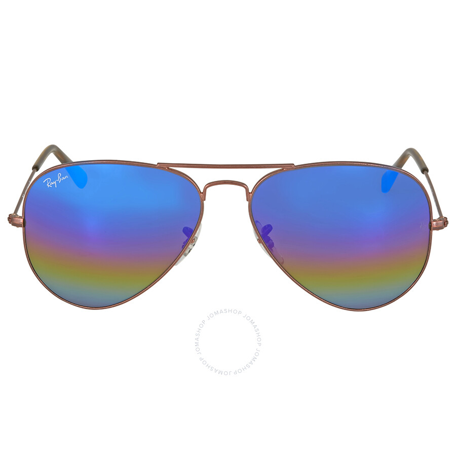 b39795c1ab Ray Ban Aviator Blue Rainbow Flash Men s Sunglasses RB3025 9019C2 58 ...