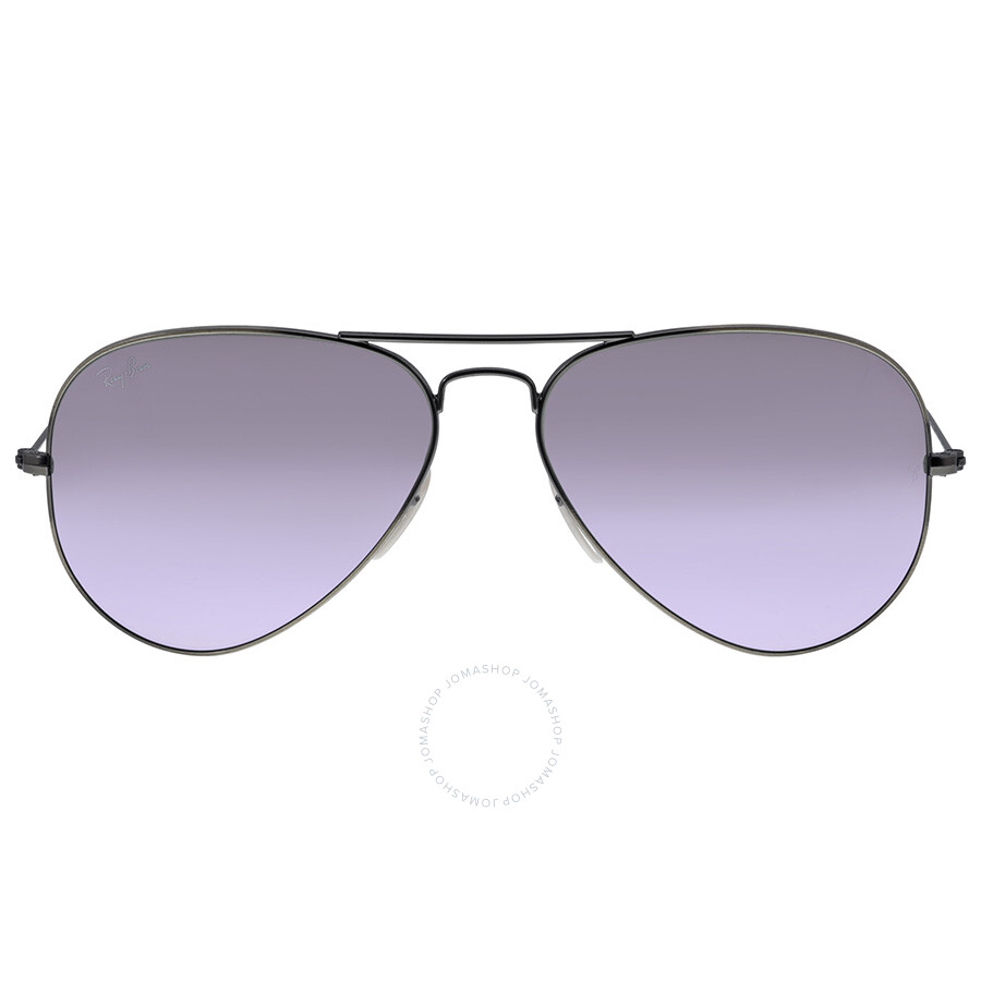 e8a317b614 Ray Ban Aviator Bronze Metal Grey Lilac Mirror Crystal Lenses 58mm  Sunglasses RB3025 167 4K ...