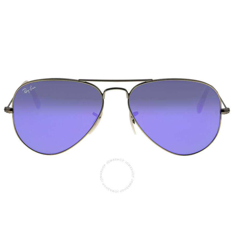 3f89cbcb94b0 Ray Ban Aviator Violet Mirror Non-Polarized Crystal Lenses 55mm Sunglasses  RB3025-55-167-1M Item No. RB3025 167-1M 55-14