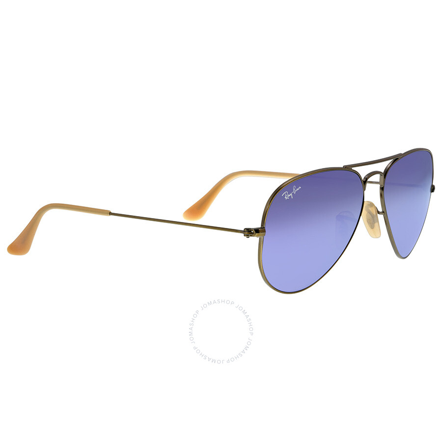 ray ban 55 aviator polarized