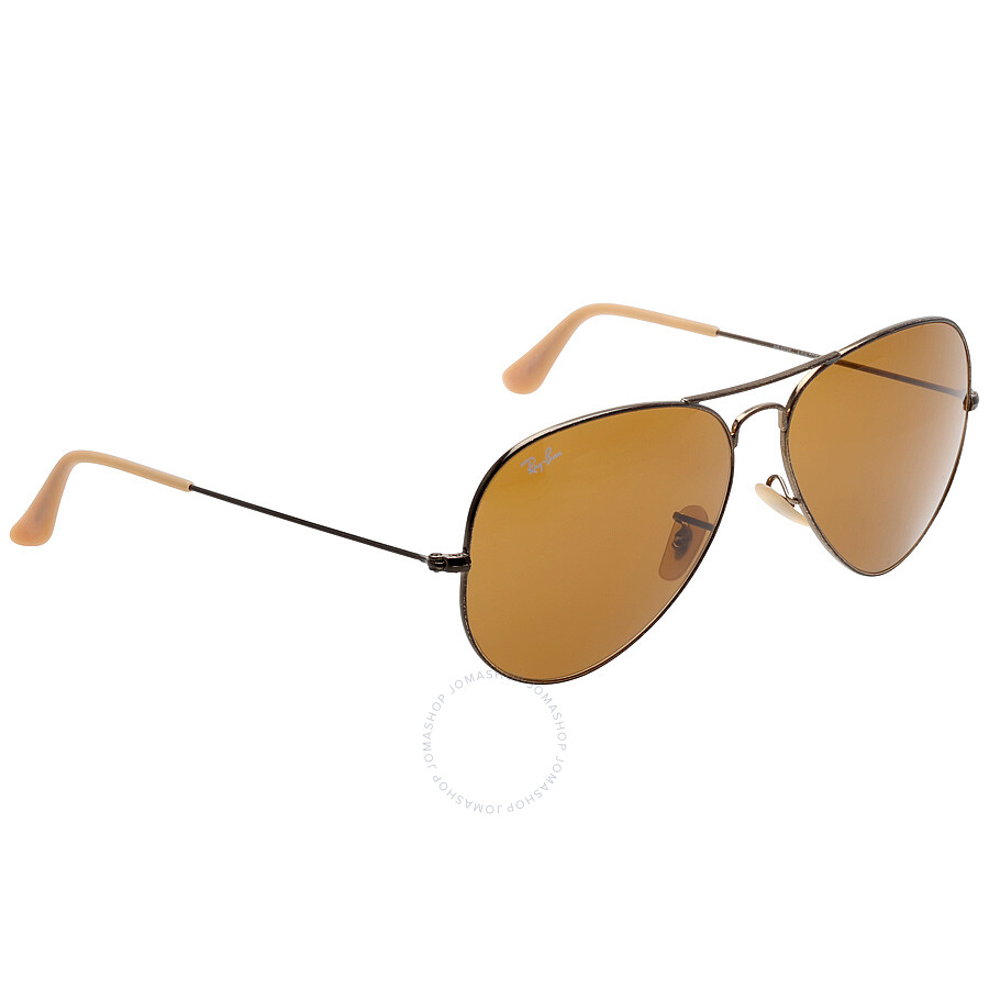 416fe78e1563d Ray-Ban Aviator Brown B-15 62 mm Sunglasses RB3025 177 33 62 ...