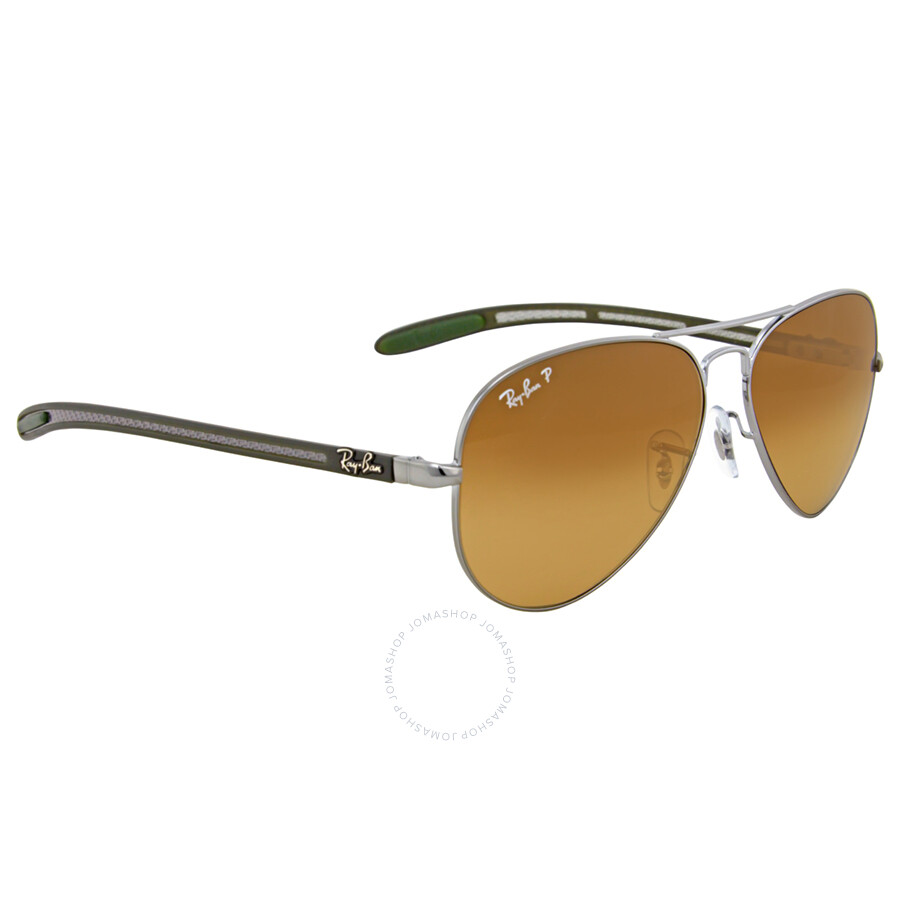 ray-ban polarized aviator carbon fiber sunglasses