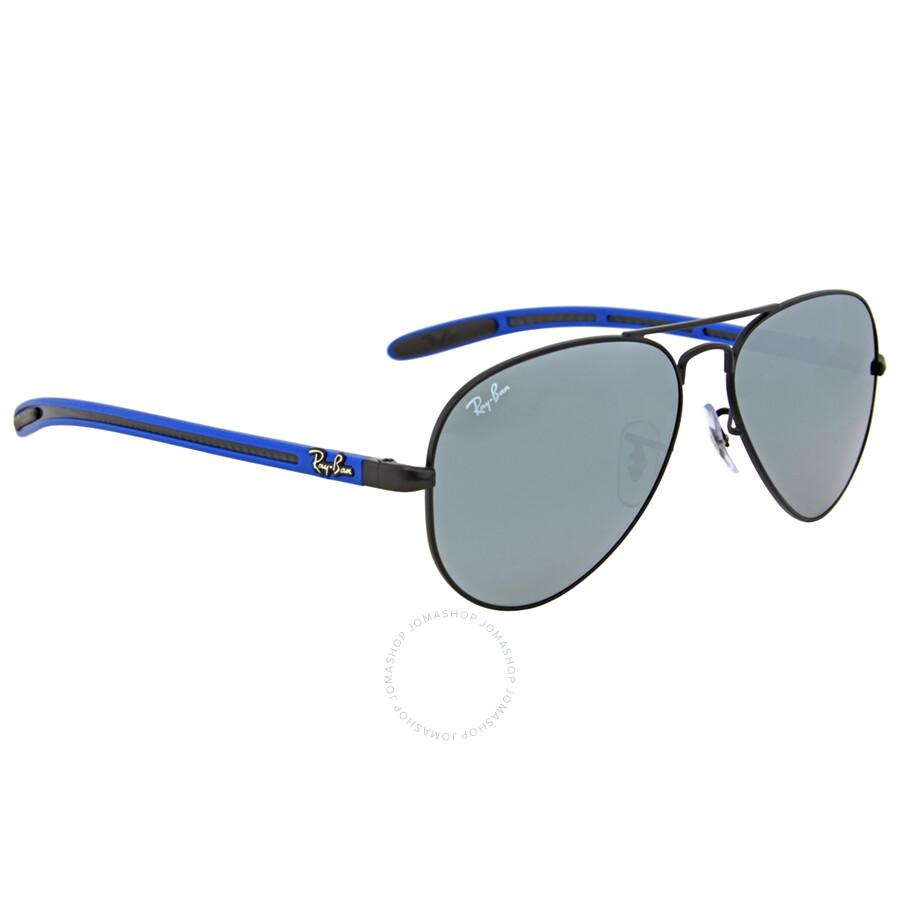6f57e9bffa047 ... Ray-Ban Aviator Carbon Fiber Frame Green Mirror Lens Sunglasses  RB83070064055