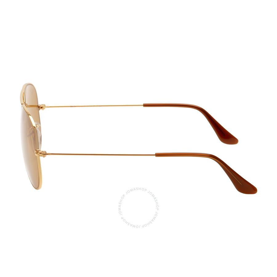 8cf85fbdc39015 ... Ray Ban Aviator Classic Brown B-15 Sunglasses RB3025 001 33 55 ...