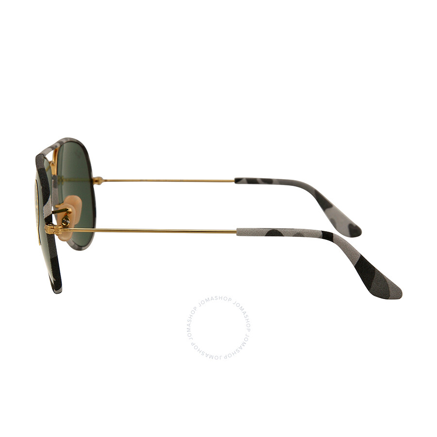 6a22cedefd ... Ray Ban Aviator Classic Gray Camo Sunglasses RB3025JM-58-171 ...