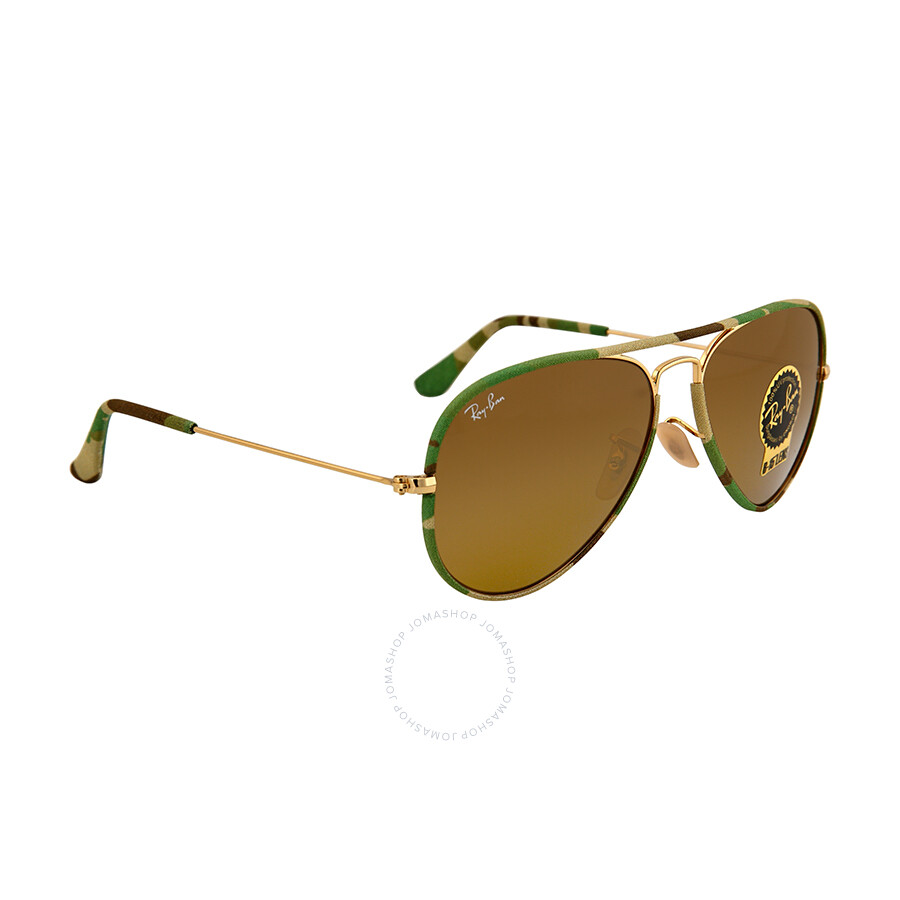 ray ban aviator classic  Ray Ban Aviator Classic Green Camo Sunglasses RB3025JM-55-169 ...