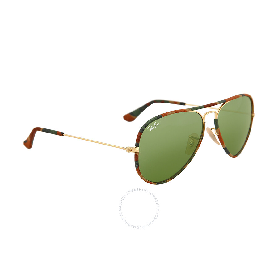 aviator green sunglasses  Ray Ban Aviator Classic Green Sunglasses RB3025JM-55-168-4E ...