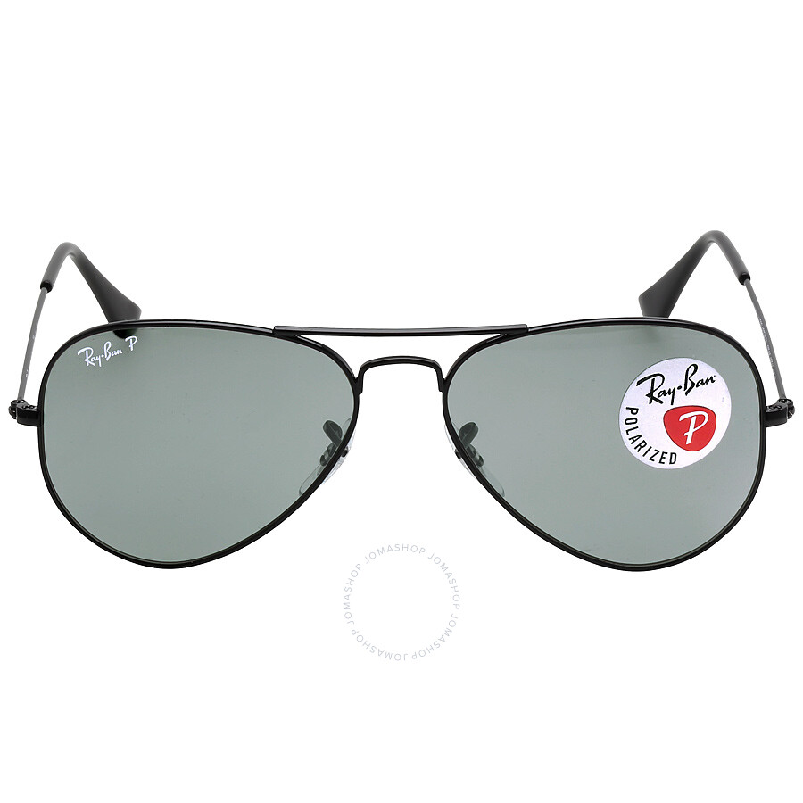 1ce67349e5 Ray Ban Aviator Classic Polarized Green Classic G-15 Sunglasses RB3025  002 58 55 ...
