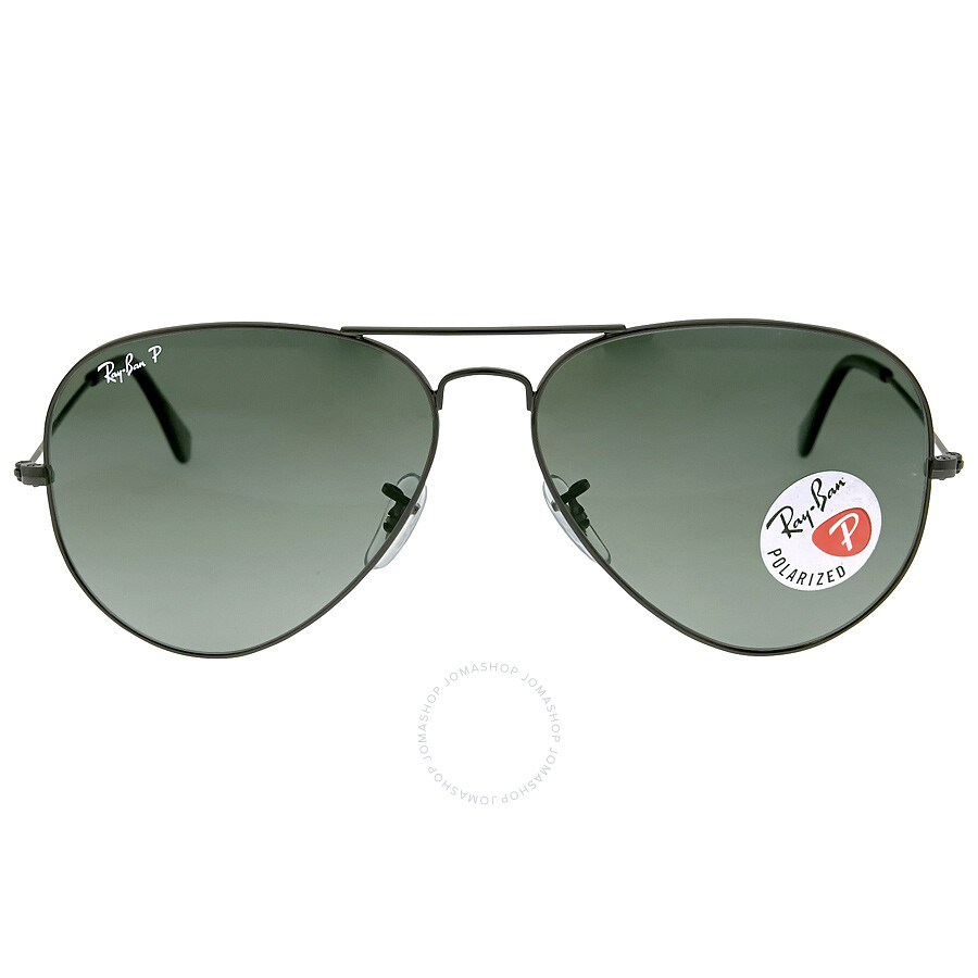 4a5bb70a0a277 Ray Ban Aviator Classic Polarized Green Classic G-15 Sunglasses