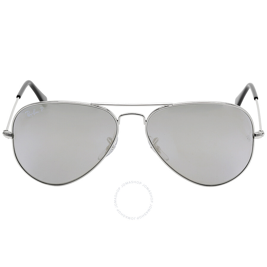 53beb6f91a19 Ray Ban Aviator Classic Polarized Grey Mirror Sunglasses RB3025-003-5958-14  Item No. RB3025 003 59 58-14