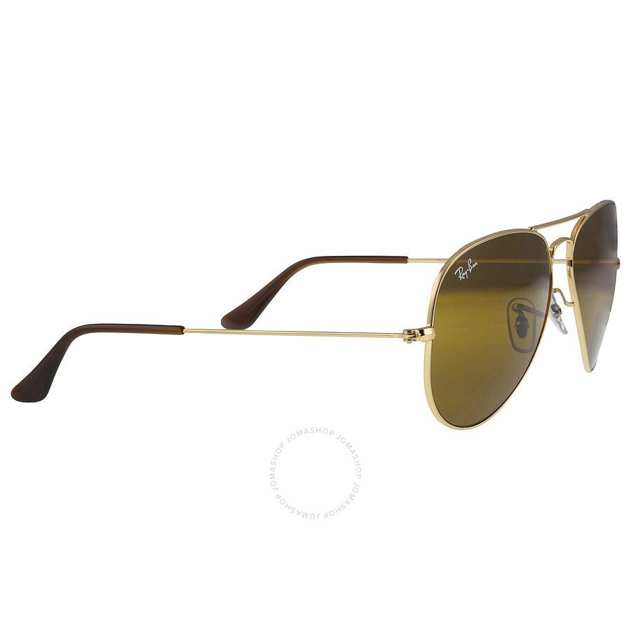 ... Ray Ban Aviator Brown Classic B-15 Men s Sunglasses RB3025 001 33 58-  ... 447875d517
