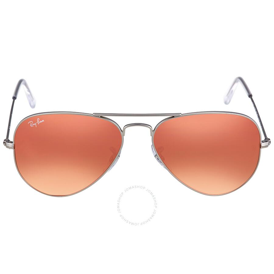78baa1dcd6 Ray Ban Aviator Copper Flash Sunglasses Item No. RB3025 019 Z2 55