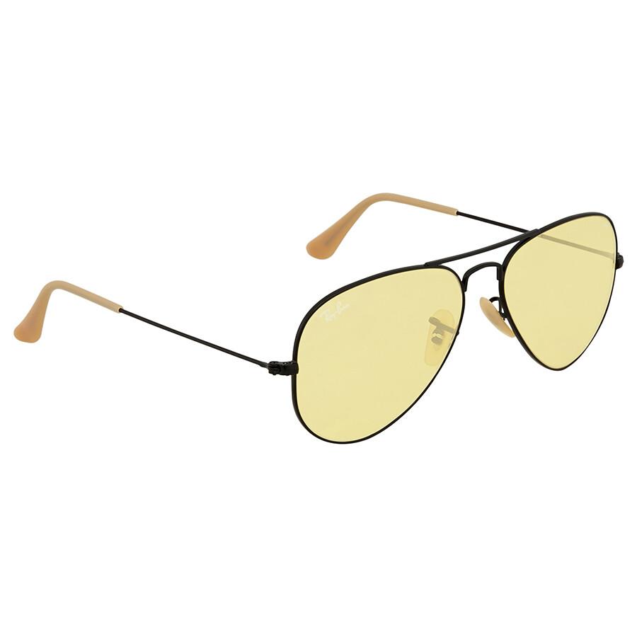 36691da3240 Ray Ban Aviator Evolve Yellow Photocromic Aviator Sunglasses RB3025 90664A  55 ...