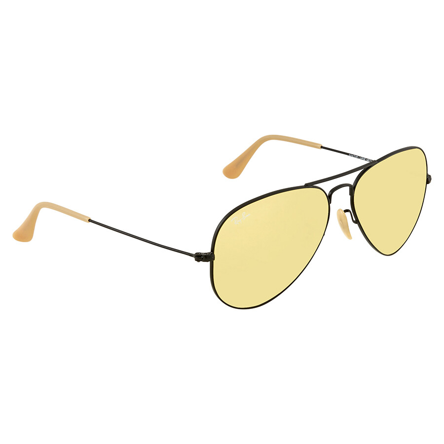 415c3b17e92 Ray Ban Aviator Evolve Yellow Photocromic Aviator Sunglasses RB3025 90664A  58 ...