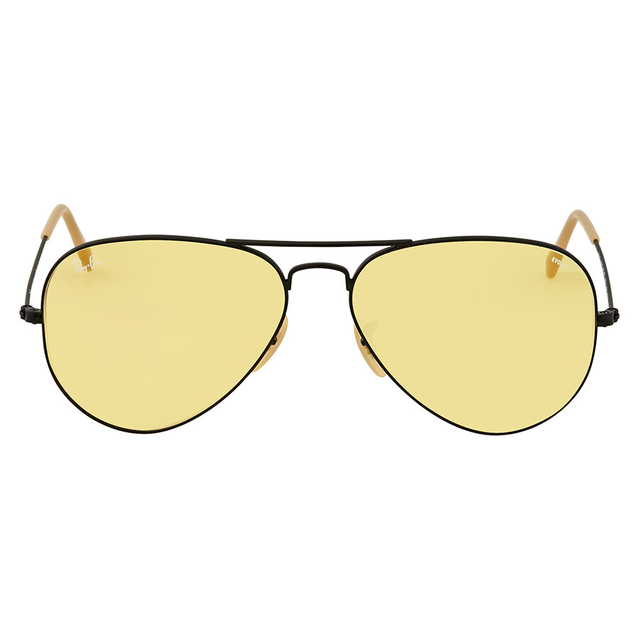 4343346adb1 ... Ray Ban Aviator Evolve Yellow Photocromic Aviator Sunglasses RB3025  90664A 58 ...